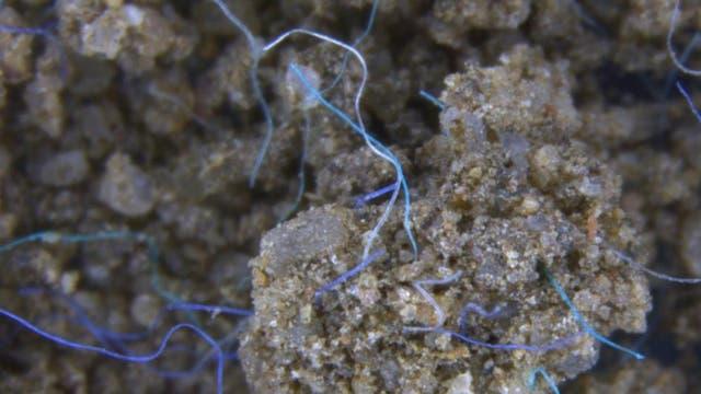 Polyacrylfasern im Erdreich