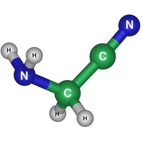 Struktur des Aminoacetonitril