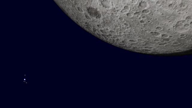Mond und Uranus am 11. September 2014