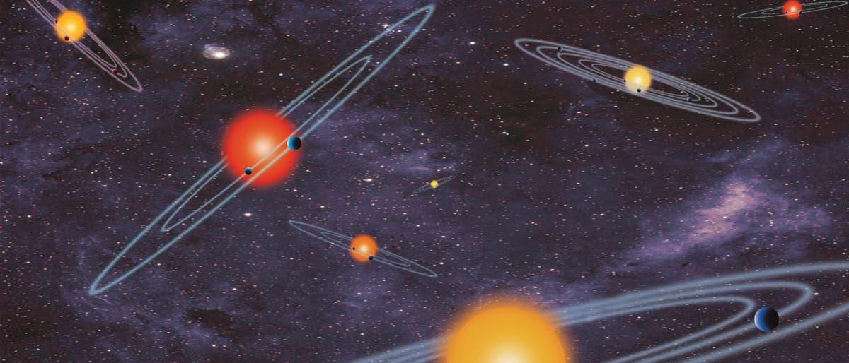 Extrasolare Planeten um fremde Sterne (künstlerische Darstellung)