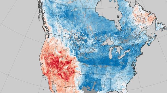 Nordamerika leidet unter zwei Wetterextremen