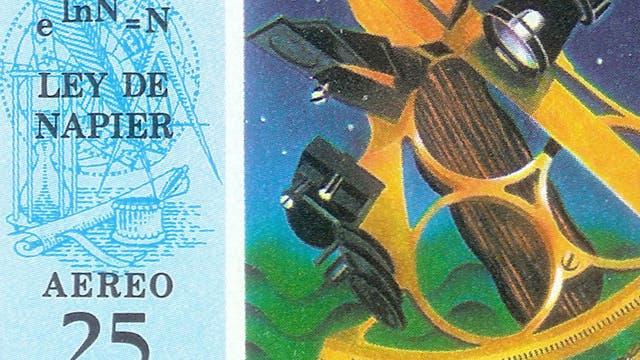 Briefmarke zu Ehren von John Napier