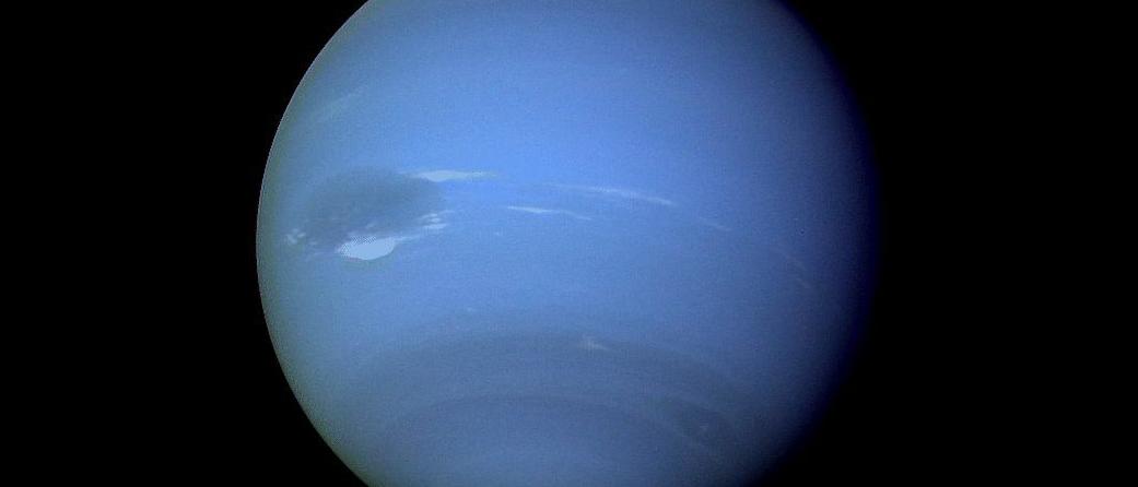 Neptun, aufgenommen von Voyager 2