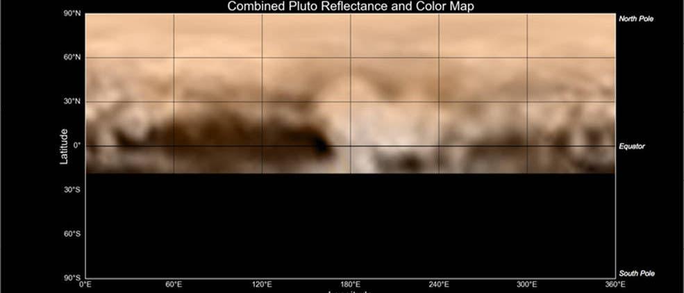 Eine erste Karte von Pluto aus Bilddaten von New Horizons