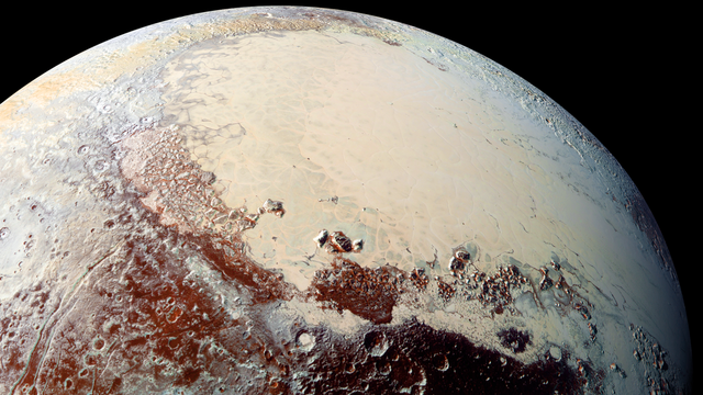 Die Region Sputnik Planitia auf Pluto