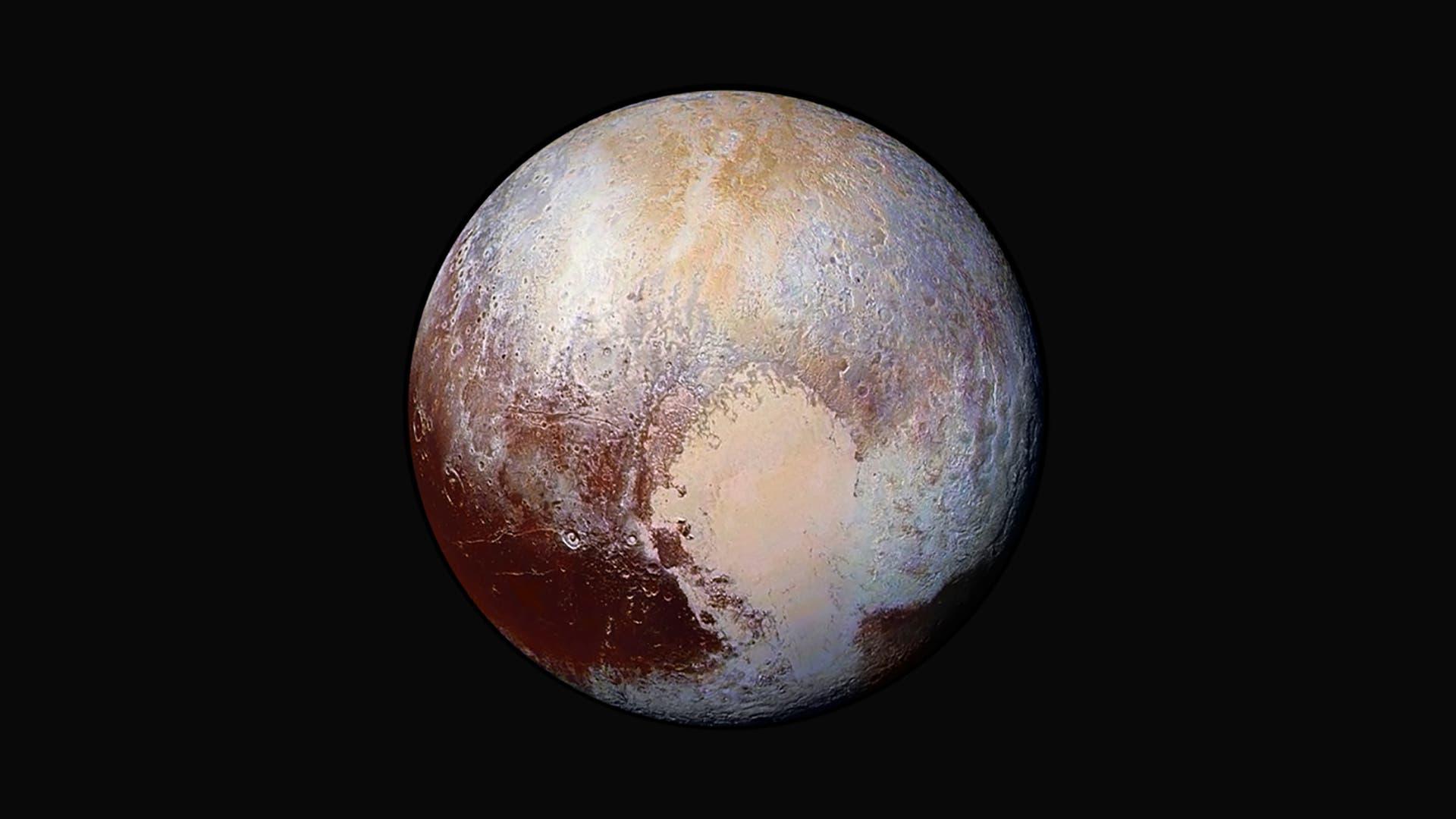 Falschfarbenbild des Pluto