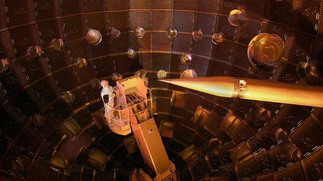 Reaktionskammer für die Kernfusion an der NIF