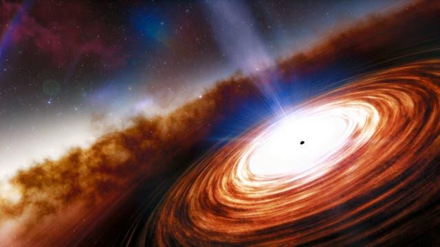 Illustration des fernsten und ältesten Quasars J0313-1806.