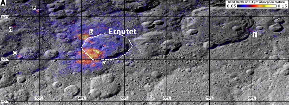 Organisches Material auf Ceres