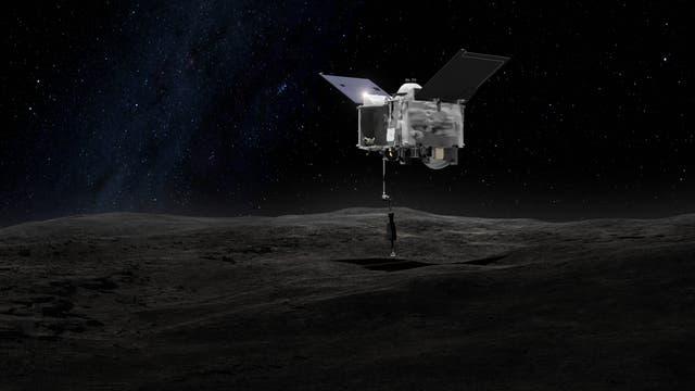 So soll OSIRIS-REx bei der Landung aussehen
