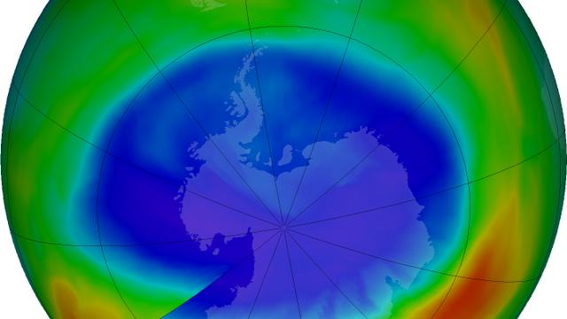 Ozonloch über dem Südpol