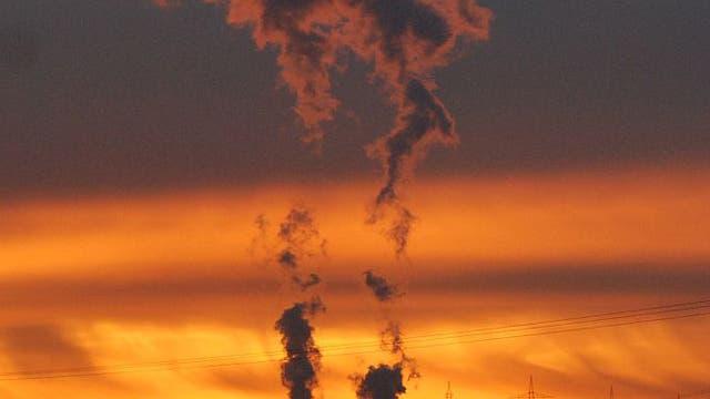 Abendstimmung am Kernkraftwerk Philippsburg