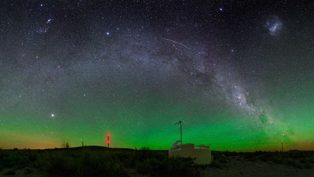 Nacht über dem Pierre Auger Observatory