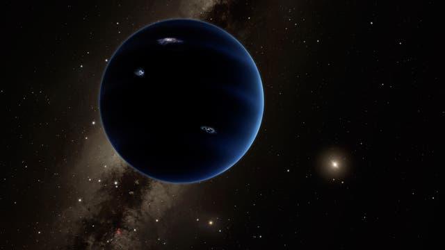 Planet X in einer künstlerischen Darstellung