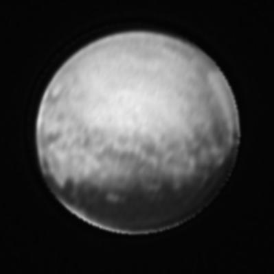 Detailbild von Pluto (stark bearbeitet)