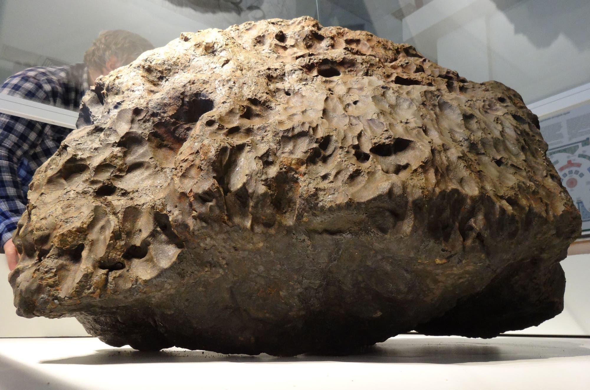 Das größte Fragment des Meteoriten von Tscheljabinsk