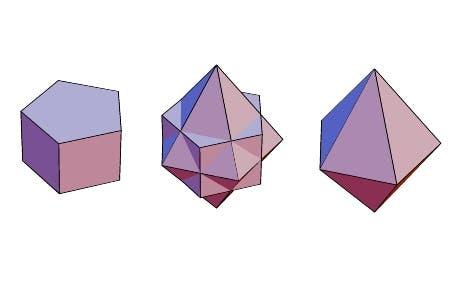 Fünfseitiges Prisma und Dual