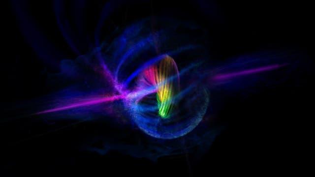 Künstlerische Darstellung eines verknoteten Bose-Einstein-Kondensats