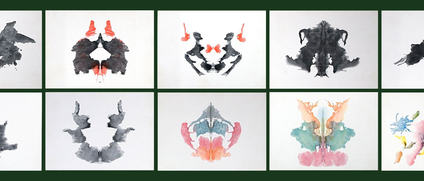Zehn Original-Rorschachbilder