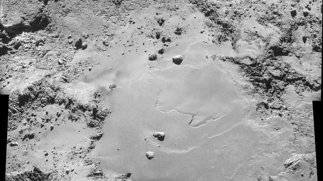 Detailaufnahme von Tschurjumow-Gerasimenko aus dem Orbit