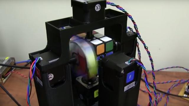 Screenshot des Rubik-Roboters