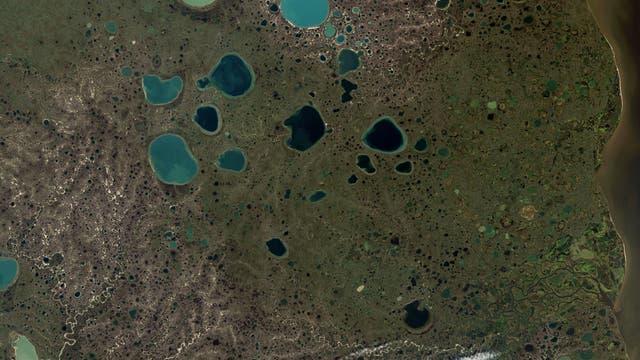 Senkloch-Seen in Sibirien