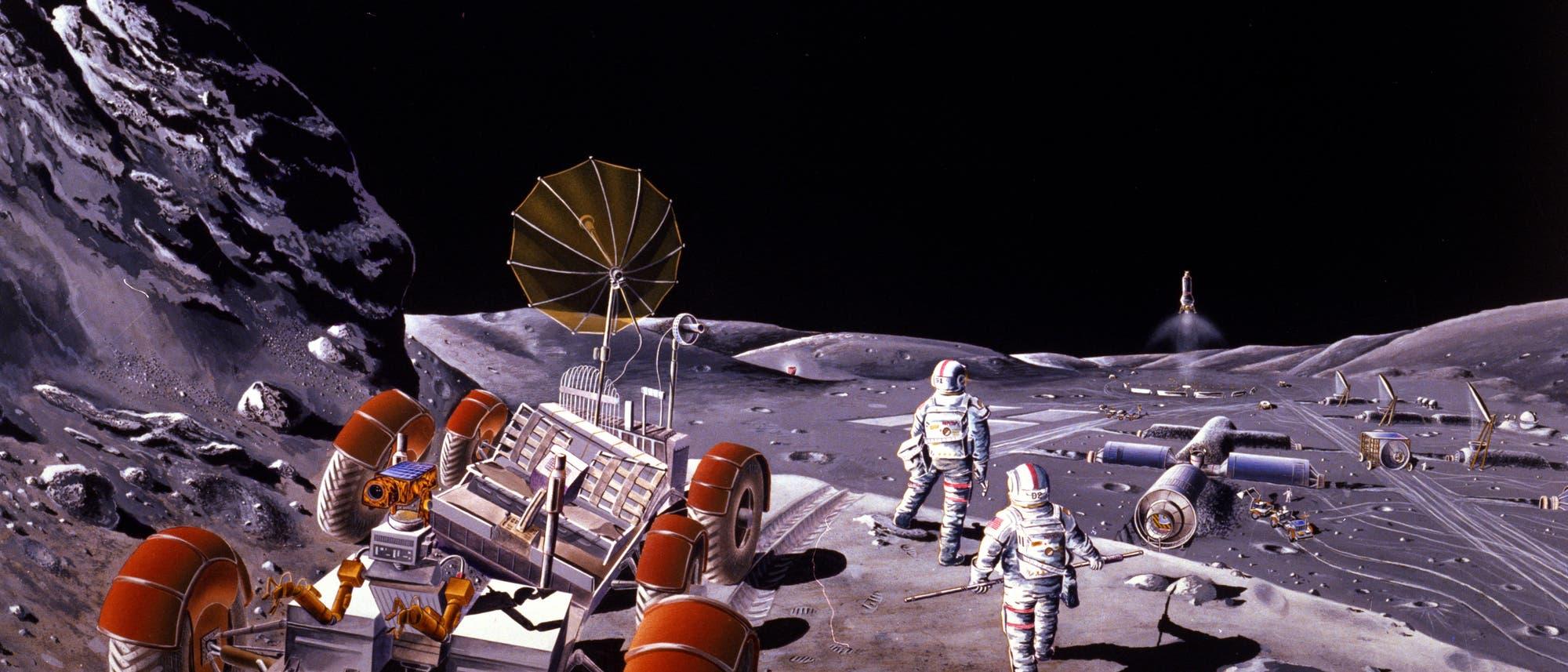 So könnte eine zukünftige Mondbasis aussehen.