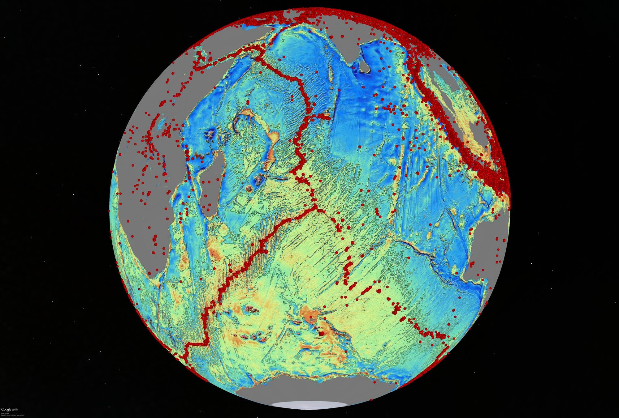 Meeresboden im Indischen Ozean