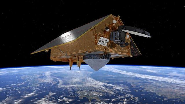 Die Animation zeigt Satellit »Sentinel 6« im Orbit.