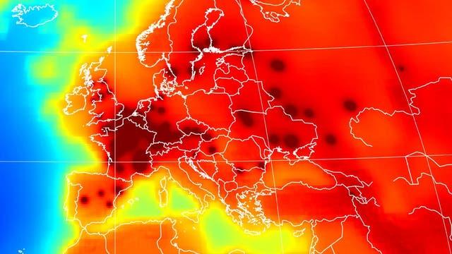 Antineutrino-Karte von Europa
