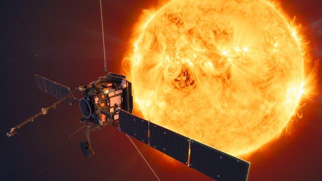 Künsterische Darstellung der Raumsonde Solar Orbiter