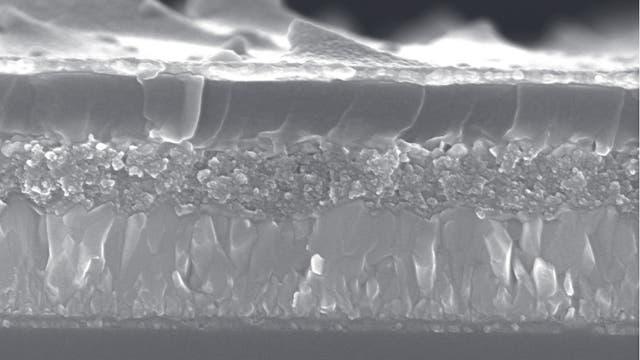 Solarzelle im Querschnitt