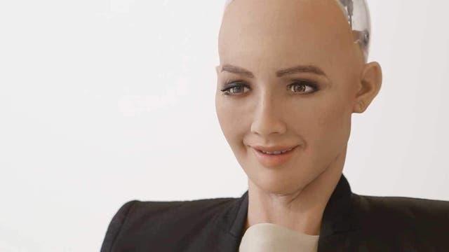Roboterfrau Sophia