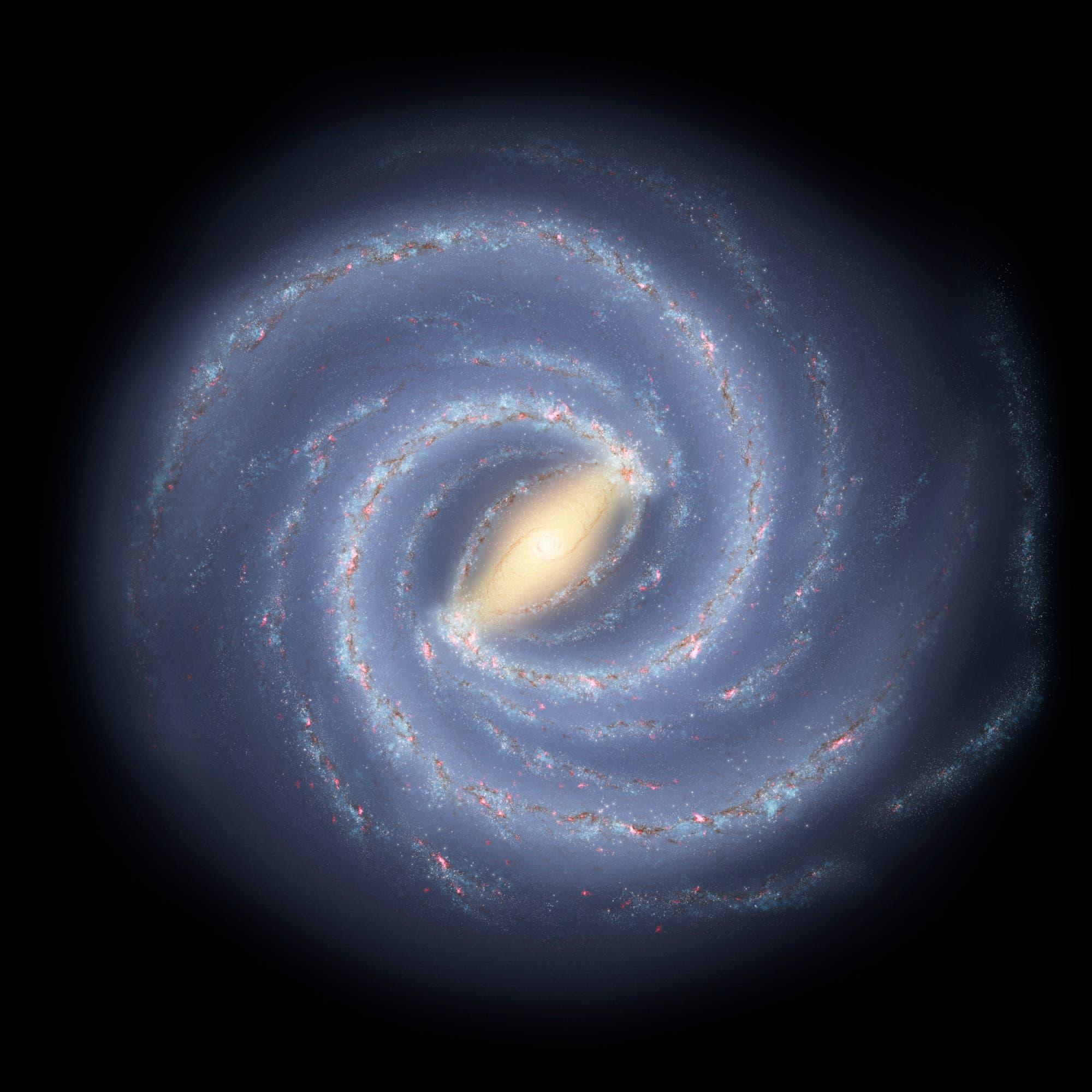 Unser Milchstraßensystem (künstlerische Darstellung)