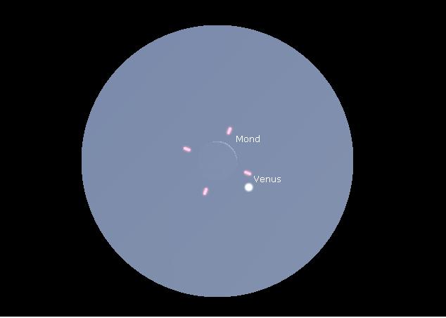 Mondsichel und Venus werden sich am 3. September 2016 eng begegnen.