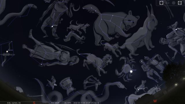 Übersicht der Sternbilder des Frühlingshimmels