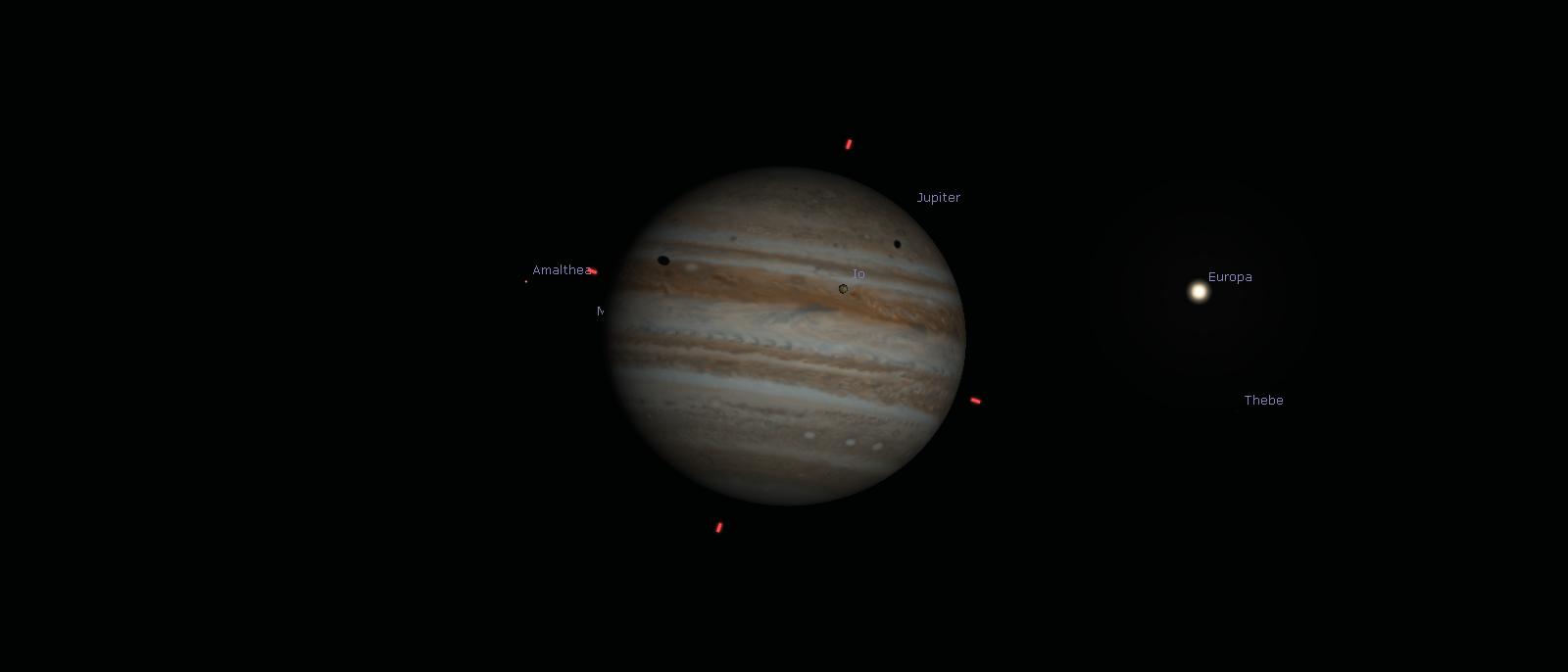 Jupiter mit den Schatten von Io und Europa
