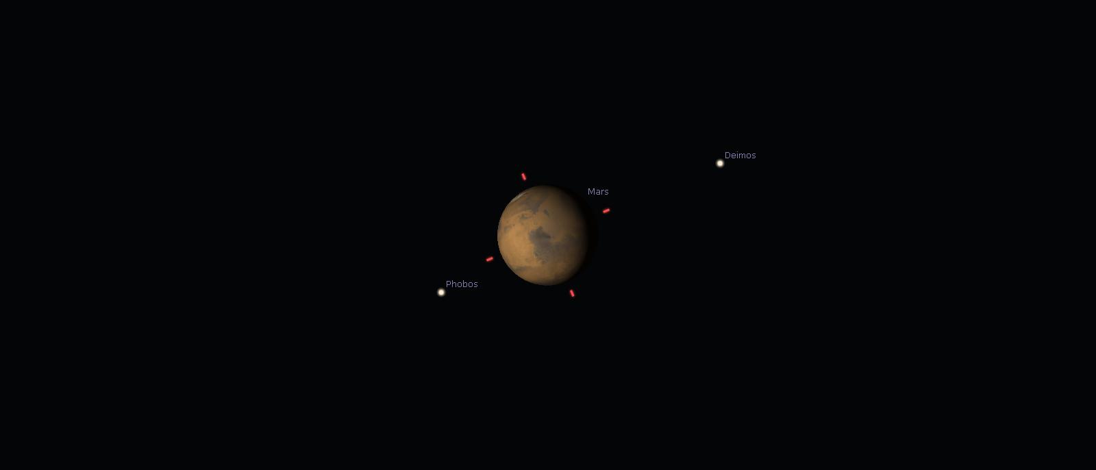Mars am 1. März 2016