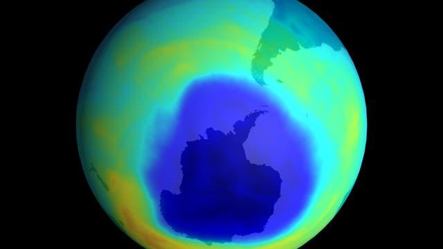 Ozonloch über der Antarktis im Jahr 2003