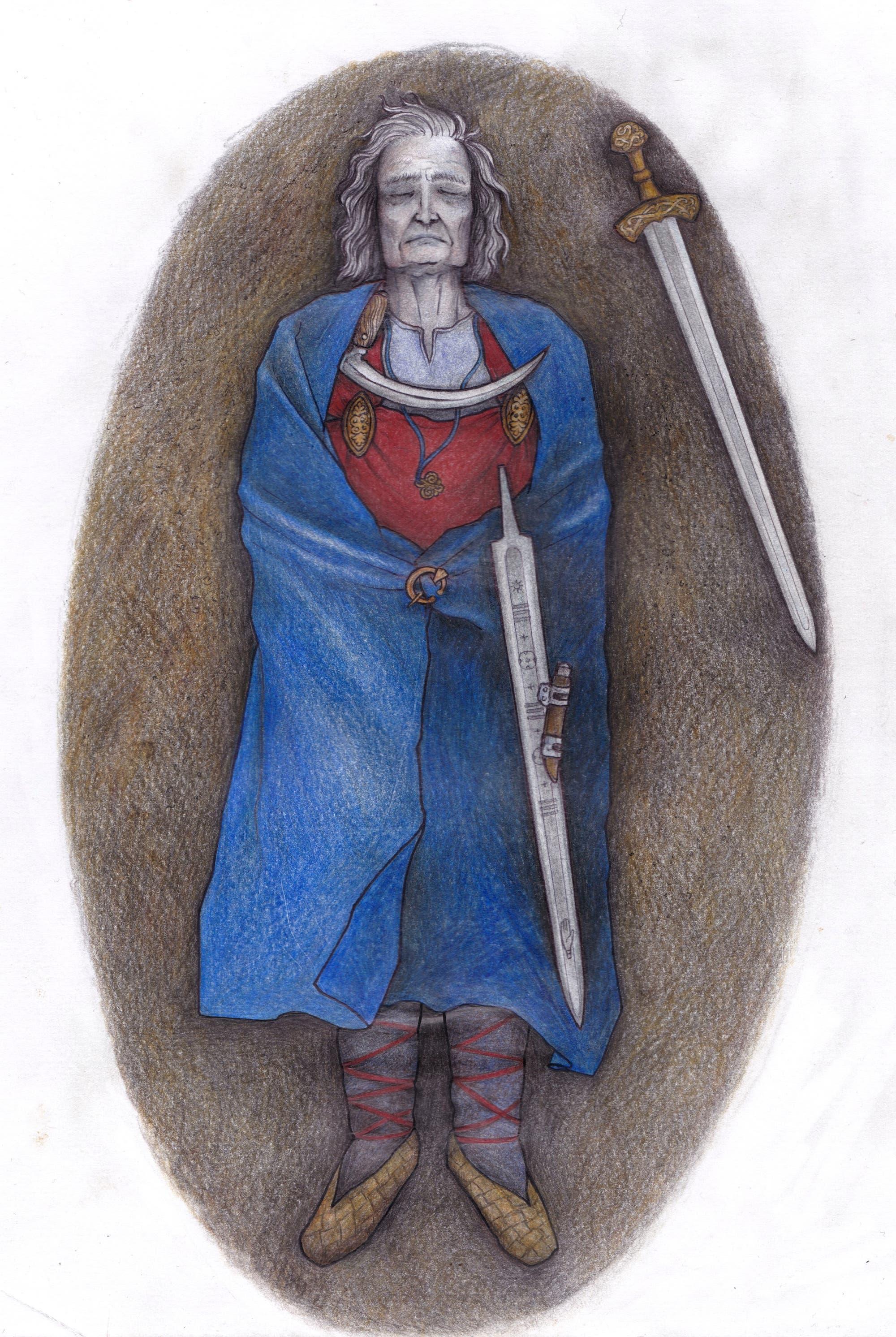 Rekonstruierte Bestattung von Suontaka