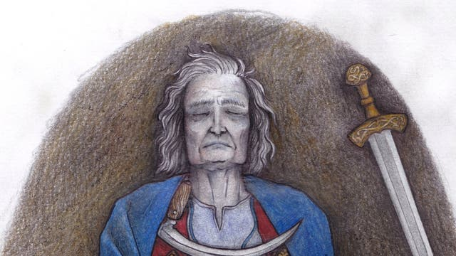 Die Bestattung von Suontaka - Detail