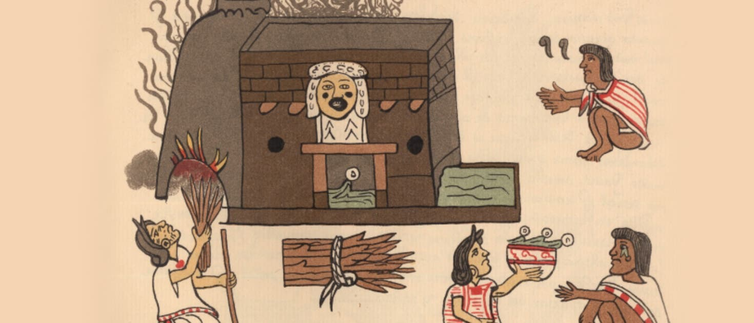 Dampfbad der Azteken im »Codex Magliabecchi« aus der Mitte des 16. Jahrhunderts.