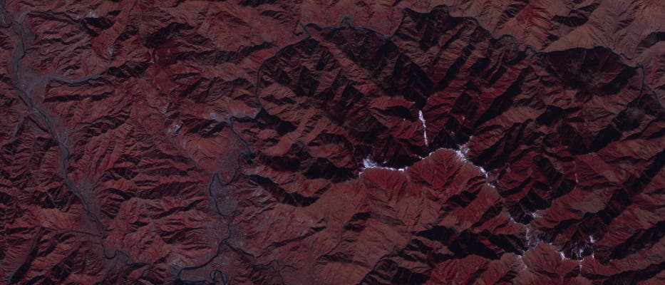 Gebirge Satellit
