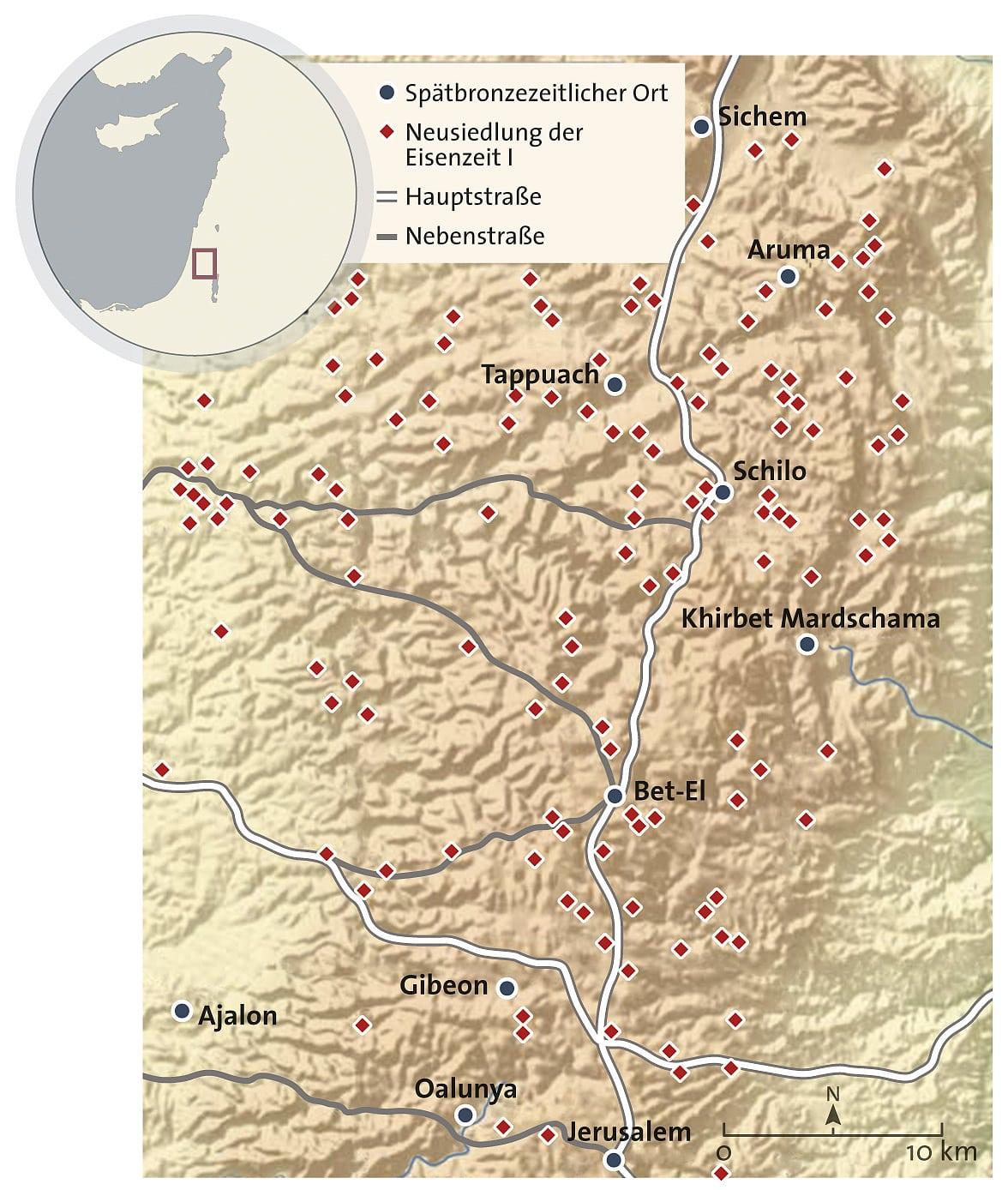 Israel bibel landkarte Israel und