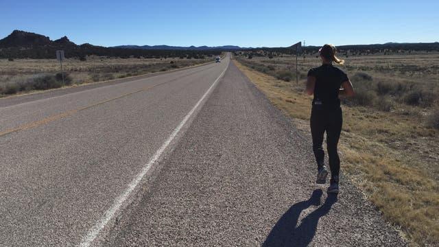 Läuferin beim RAUSA-Wettbewerb