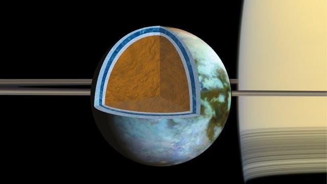 Titans Eiskruste