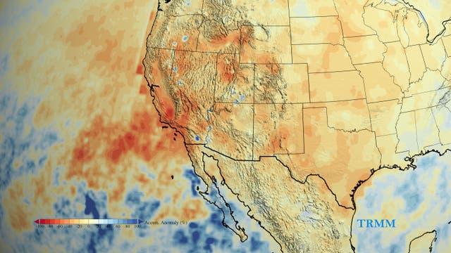 Seit 2012 hat Kalifornien deutlich weniger Wasser erhalten als im langjährigen Schnitt. Das Defizit beläuft sich mittlerweile die Regenmenge, die normalerweise im Mittel in einem Jahr in Kalifornien fallen sollte.