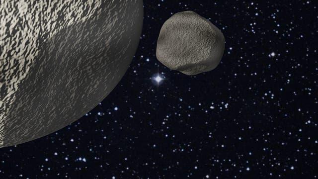 Transneptunische Asteroiden (künstlerische Darstellung)