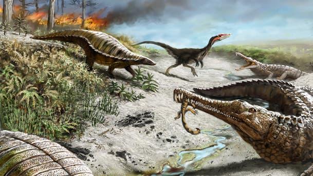Dinosaurier in der Trias