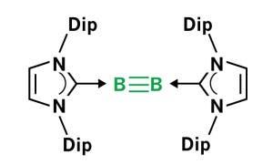 NHC-stabilisierte Dreifachbindung